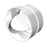 Соединитель с обратным клапаном пластик D100 мм, шт