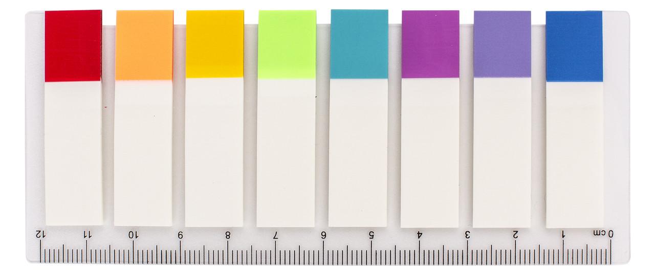 Стикеры-закладки optima, 45х12, 8 цветов, 120 шт.
