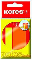 Стікери-закладки Kores, 45х2 и 45х25, пластикові