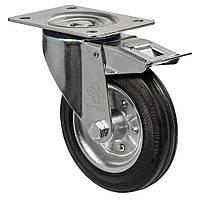 Колеса поворотные с крепежной панелью и тормозом Диаметр: 75мм. Серия 31 Norma