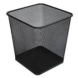 Кошик прямокутний металевий чорний 10л