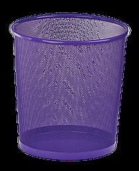 Корзина для паперу металева фіолетова