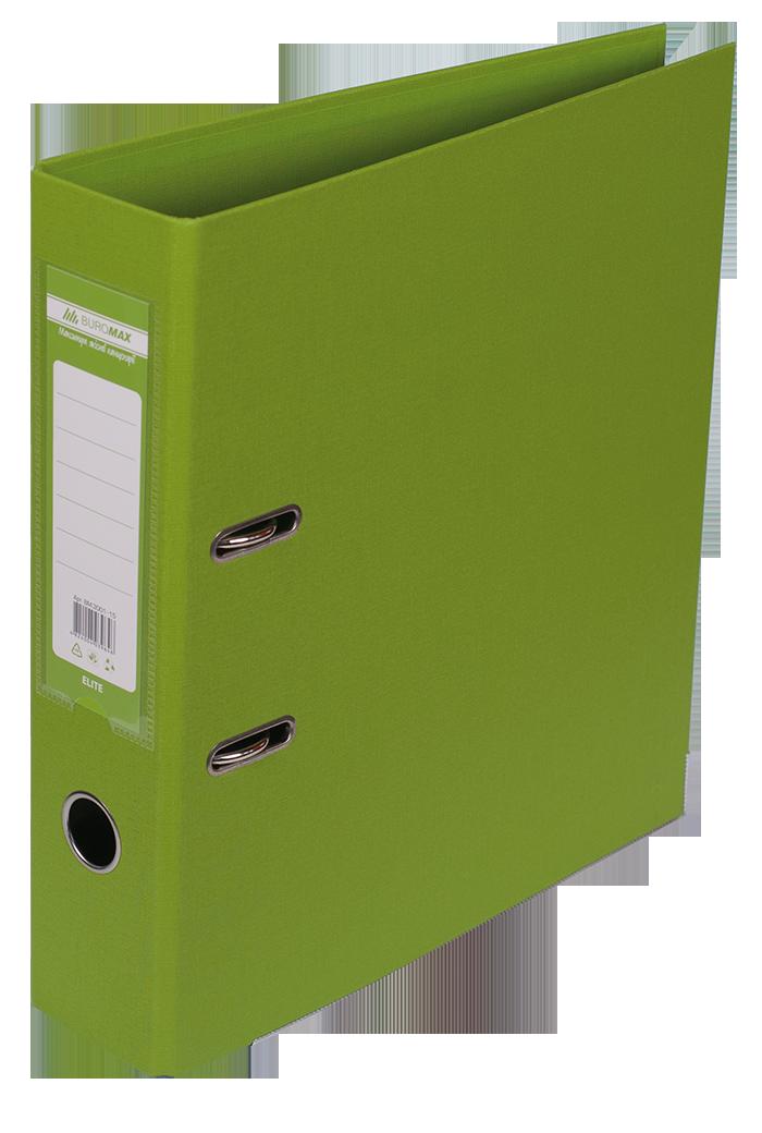 """Реєстратор двосторонній """"ELITE"""" BUROMAX, А4, ширина торця 70 мм, світло-зелений Артикул : BM.3001-15с"""