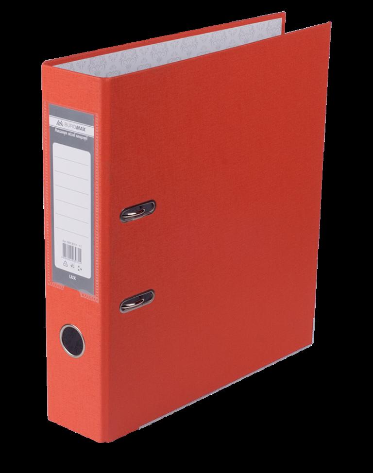 Реєстратор односторонній А4 LUX, JOBMAX, ширина торца 70мм, червоний