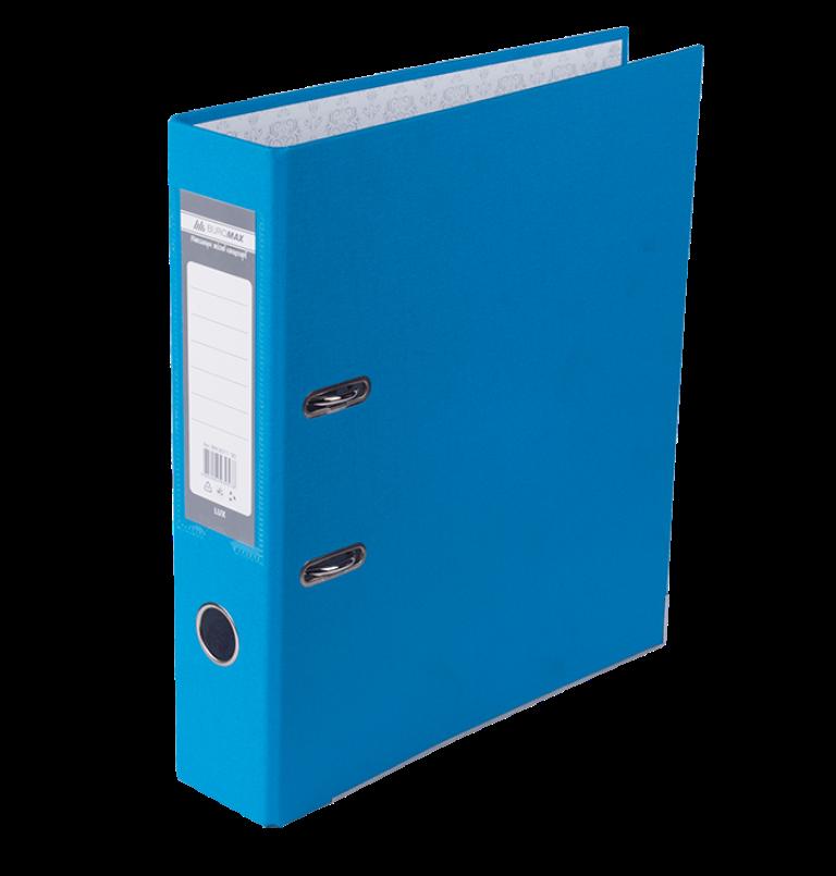 Реєстратор односторонній А4 LUX, JOBMAX, ширина торца 70мм, блакитний