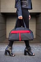 Спортивная сумка Kotico Sport 43х23х16 см черно-красная флай, фото 1