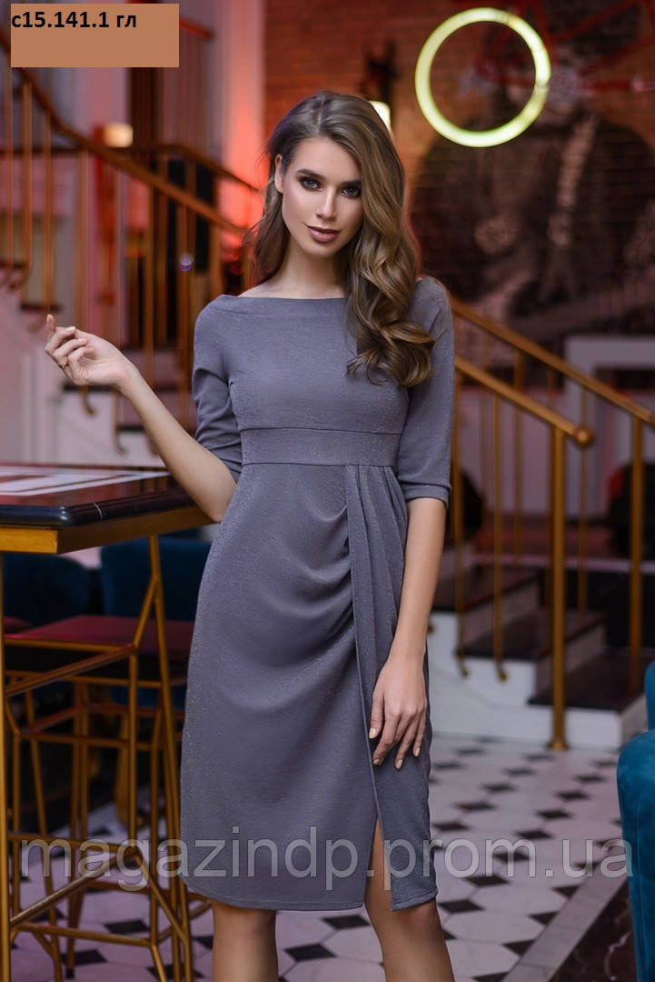 Платье женское с люрексом с15.141.1 гл Код:878796582
