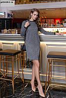 Женское трикотажное платье батал р15119 гл Код:878931787