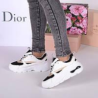 Женские кроссовки с  текстильными вставками, фото 1
