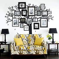Виниловая наклейка на стену Дерево для фоторамок (на обои, самоклеющаяся)