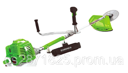 Мотокосa GRUNHELM GR-43М двигун 43см3/2,8 кВт, легкий старт, вал 28мм, косильна головка, ніж 3Т, гар