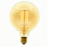 Лампа Эдисона 40Вт E27 G95 Amber янтарная полировка