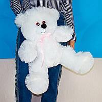 """Белый плюшевый мишка """"Боря"""" 60см с бантиком. Мягкий медведь. Мягкая игрушка плюшевый мишка 60 см."""