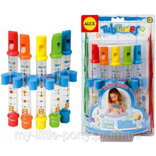 Игрушка для ванны Водяные флейты с цветными нотами Alex