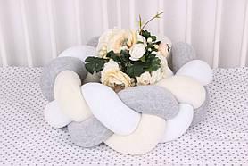 Бортик косичка в кроватку разноцветная 15х120 см
