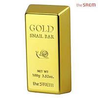 Мыло с экстрактом золота и муцина улитки The Saem Gold Snail Bar 100 г (8806164117026)
