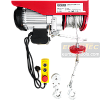 Тельфер 800 кг / 400 кг, 6/12 м Boxer BX-563 электрический тельфер электроталь электрическая лебёдка, фото 1
