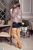 Стильная куртка под леопарда косуха демисезон эко-кожа 42 44 46 48, фото 3