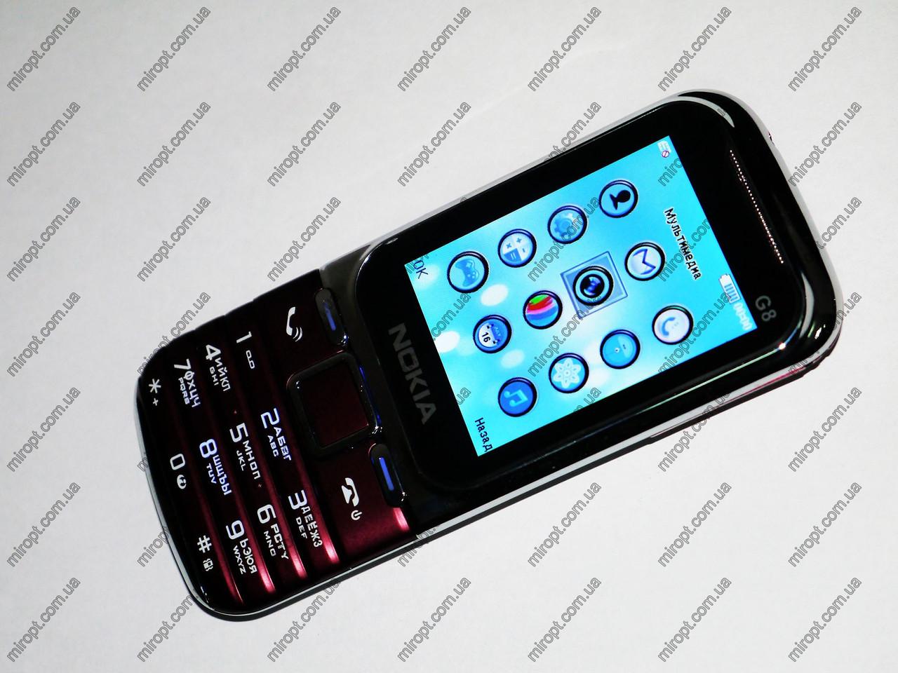 Телефон Nokia G8 Малиновый - 2 sim - Fm -Bt - Cam