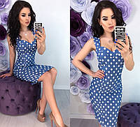 Красивое женское платье 42 - 48 рр из стрейч - коттона