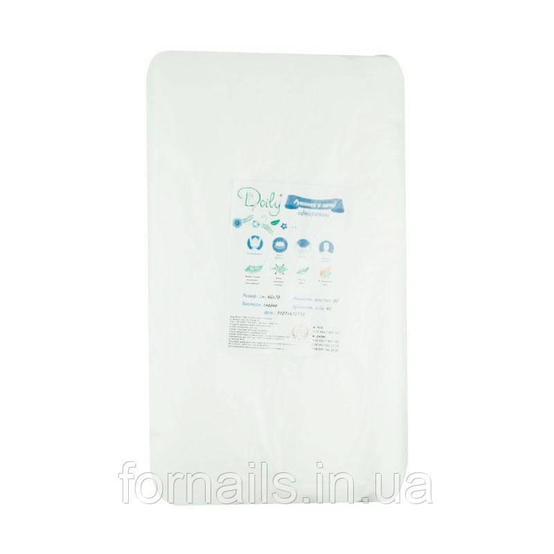 Полотенца в пачке 40*70 см, 40г/м2, 50 шт, гладкие Doily