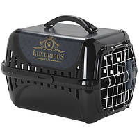 Moderna Trendy Runner Luxurious Pets переноска с металлической дверцей и замком IATA для кошек (49.4*32.2*30.4 см) черный