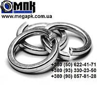 Шайба нержавеющая Ø 8 мм пружинная гровер, нержавеющая сталь А2,А4, DIN 7980, ГОСТ6402-70.