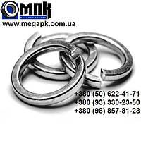 Шайба нержавеющая Ø 10 мм пружинная гровер, нержавеющая сталь А2,А4, DIN 7980, ГОСТ6402-70.