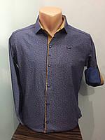 Рубашка мужская стрейч на кнопках S-2XL