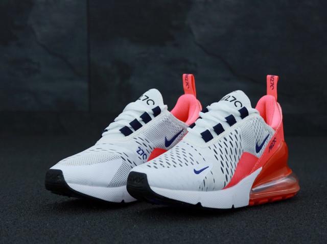 Женские кроссовки Nike Air Max 270 White Pink   фото