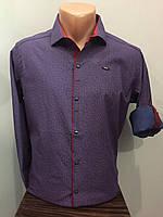 Рубашка мужская на кнопках рукав трансформер S,M,XL
