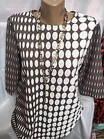 Блуза женская летняя в горошек