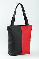 Сумка Комби черно-красная вертикальная