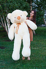 Плюшевый медведь Тедди 180 см Кремовый