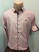 Рубашка мужская стрейч на кнопках М,XL,2XL