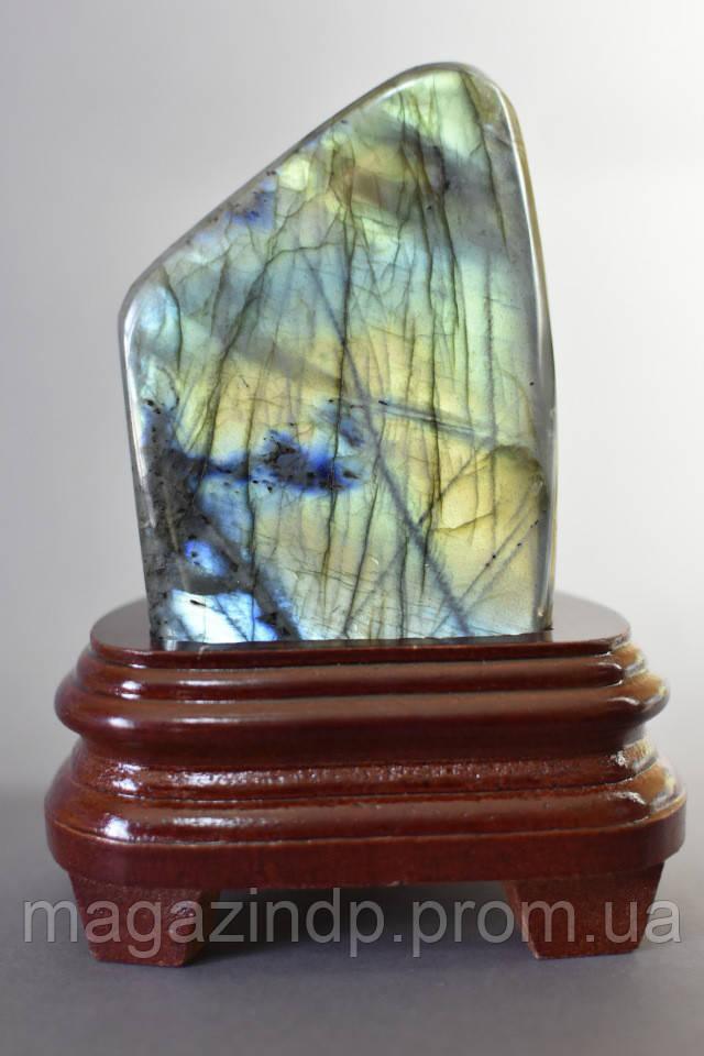 Сувенир натуральный камень Лабрадор на подставке 0,740гр Код:719016037