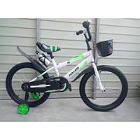 Детский двухколесный велосипед Халер 12 дюймов с флягой корзинкой