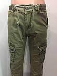 Модные котоновые брюки для мальчика 146 см, фото 2