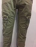 Модные котоновые брюки для мальчика 146 см, фото 3