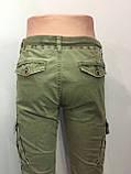 Модные котоновые брюки для мальчика 146 см, фото 6