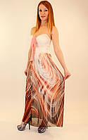 Шифоновое платье в пол на резинке 42-48 р ( разные цвета )