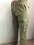 Модные котоновые брюки для мальчика 146 см, фото 4