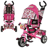 Трехколесный велосипед  WX 0102 Винкс розовый