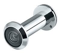 Глазок дверной, стеклянная оптика, DVGU, 28/65x90 CP Хром
