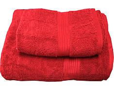 Набор махровых полотенец Galata красный
