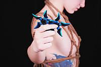 Стильный метательный нож-сюрикен в синем цвете(BF005)