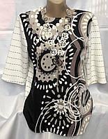 Блуза женская летняя с орнаментом