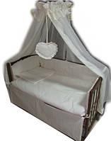 """Комплект постельного белья """"Baby 8 элементов Жакард линия ваниль"""""""