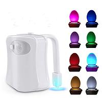 IHomy LED подсветка светильник ночник для унитаза с датчиком движения 8 цветов гаджет в ванную