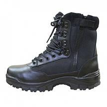 Ботинки тактические MIL-TEC с застежкой-молнией демисезон черные, фото 3